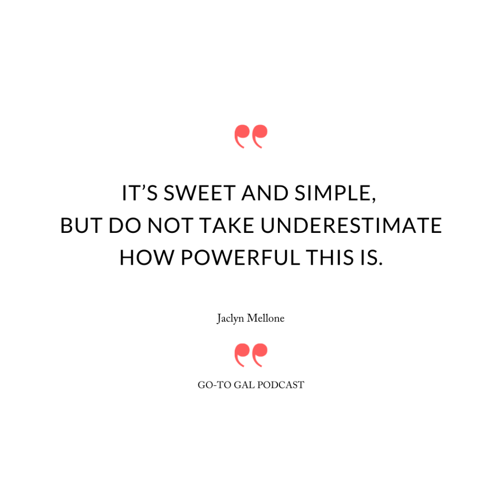 """""""It's sweet and simple, but do not take underestimate how powerful this is."""""""