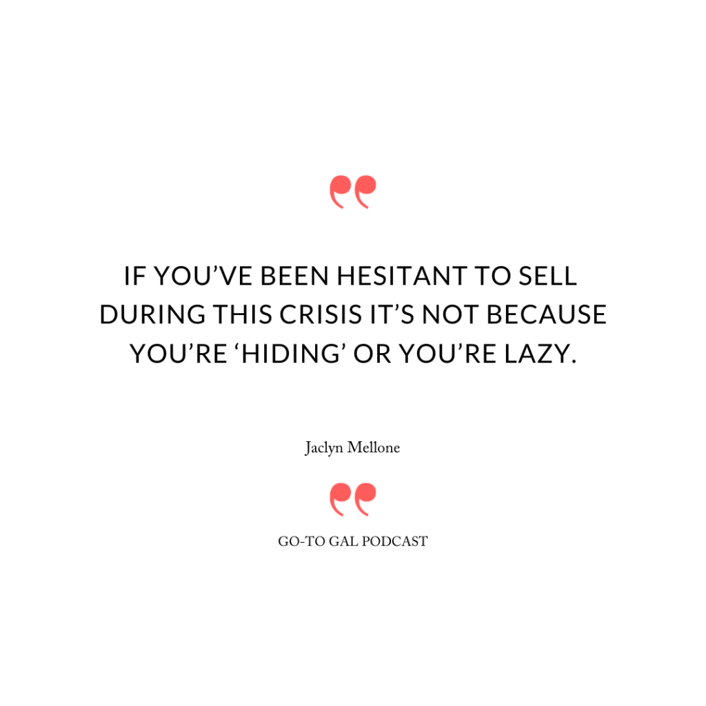 """If you've been hesitant to sell during this crisis it's not because you're 'hiding' or you're lazy."""